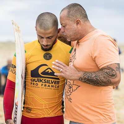 Filipe Toledo (BRA) was defeated by Ryan Callinan (AUS) in Heat 6 of Round 3 at the Quiksilver and Roxy Pro France 2018
